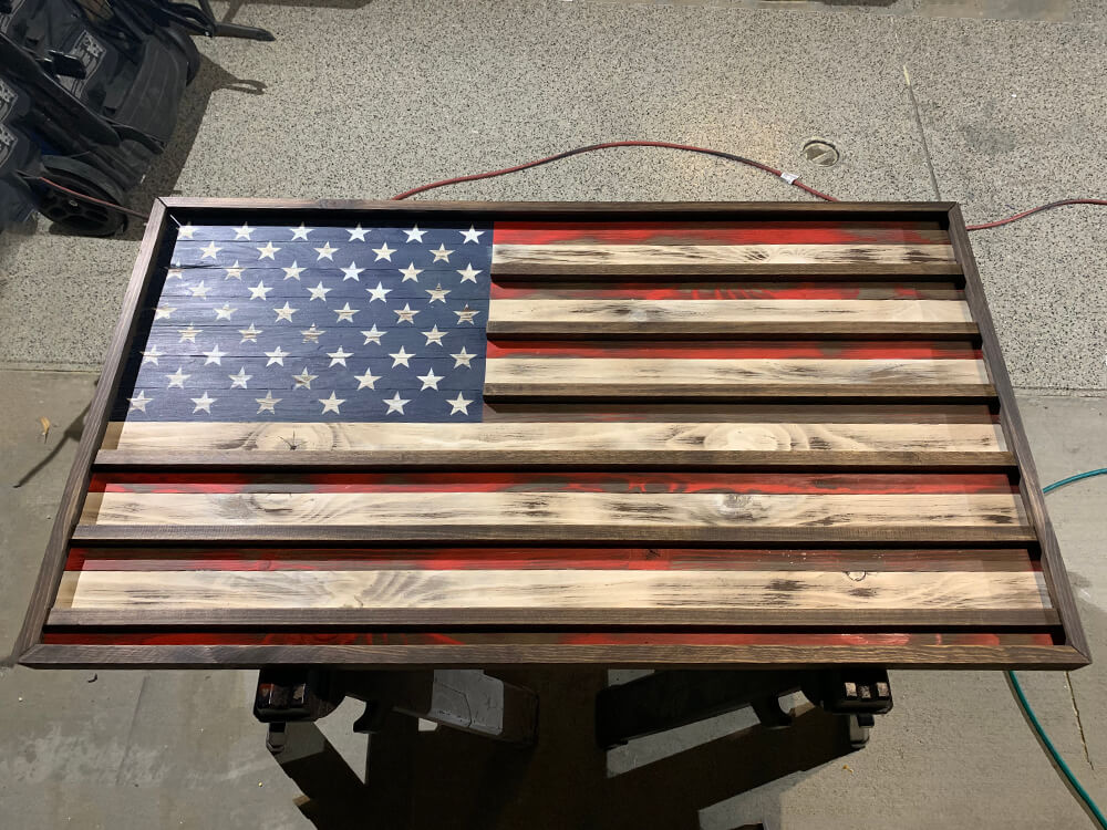 the rustic junkee-american flag challenge coin rack-2