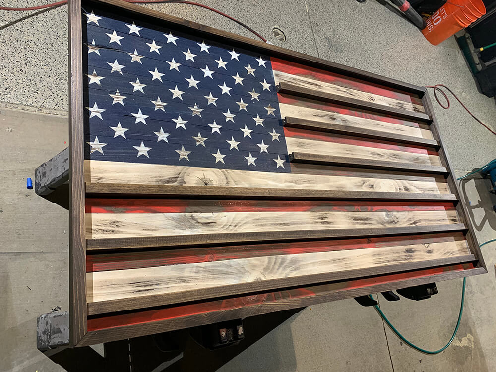 the rustic junkee-american flag challenge coin rack-3