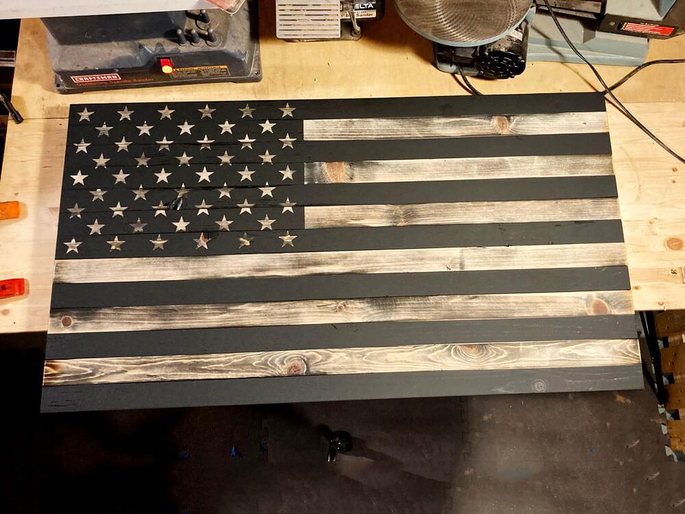black and tan american flag-1